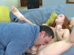 Beautiful young babe Alec Knight fucks hard with her partner