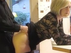 Mature couple fucking in the kitchen