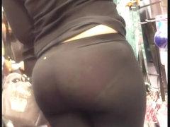 See thru tights show cute undies