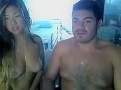 Hot Asian girlfriend receives lustful on webcam