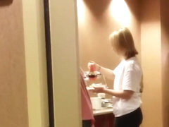 milf from elevator spandex ass 2