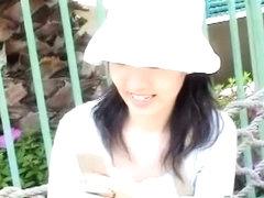 Public japanese chick downblouse nip slip