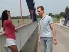 Hot Teen Couple fucking in public