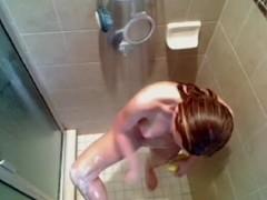baby taking shower