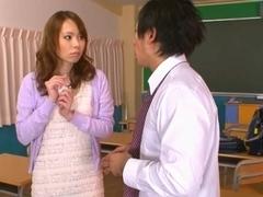 Eri Ouka Sweet Asian teacher enjoys cock