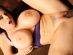 Interracial hot sex with busty Daphyne Rosen