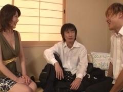 Eriko Miura hot mature Asian babe enjoys hot group action