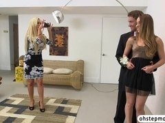 Remys stepmom licks and fucks her gets caught by her boyfriend