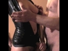 Mrs B Latex two fuck titslap and cook jerking