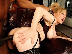 Nina Hartley in Blode Milf Gets Her Ass Pounded By Huge Black Cock