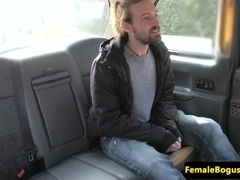 Female taxi driver facefucked by passenger