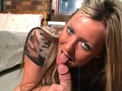 British bitch Sarah Louise sucks and copulates