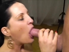 Getting fucked in crotchless pantyhose
