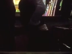 Hidden cam caught a couple having sex in the bar