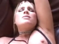 Large tittied sexy blond chick is fucked right into an asshole by a BBC