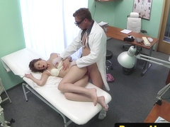 Doctor drills patients wet pussy