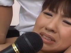 Misato Kuninaka is fucked with sex toys before double t