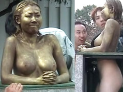 Cosplay Porn: Public Painted Statue Fuck part 4