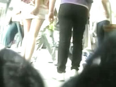Girls get followed by voyeurs on the street video collection