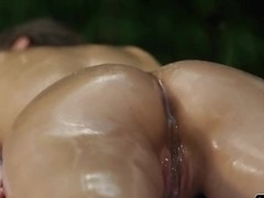 An extremely passionate girl-on-girl massage