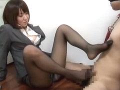 Amazing Japanese chick Nozomi Hara in Exotic Creampie/Nakadashi, Femdom JAV clip