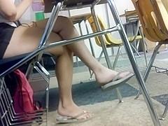 Endless dangling flip flops in class