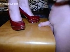 This amateur mature vid shows me standing on a cock