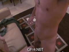Cute girl worships a cock