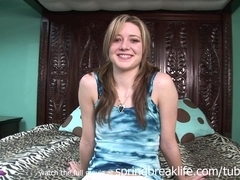 SpringBreakLife Video: Up The Skirt Cutie Changes Clothes