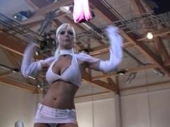 V Schmitt - german pornstar - live on stage