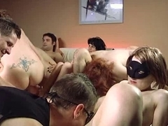 Mad orgy with hot horny bitches
