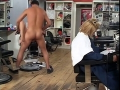 British floozy Taylor receives screwed at the hairdressers