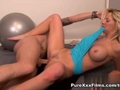 Sienna Day in Naughty Gym Workout Video