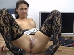 Hot Hottie Acquires Anal And Bawdy Cleft Overspread In Cream !