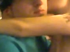 Blonde teen jerking a cock on webcam