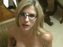 Glasses Wearing Angel Takes A Facial