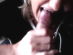 Mature lady is a skillful dick sucker and a heavy cum swallower