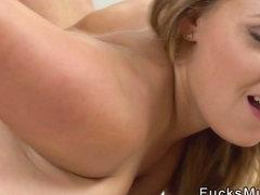 Huge natural tits Milf gets hot jizz after sex
