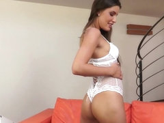 Ennie Sweet pissing and dildo loving