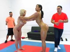 Oil Wrestling Group Sex