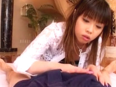 Fabulous Japanese model Mana Katase in Horny Blowjob/Fera, Handjobs JAV clip
