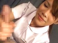 Exotic Japanese whore Sara Nakamura, Jun Rukawa in Hottest Handjobs, Nurse/Naasu JAV clip