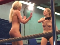 NudeFightClub with Laura Crystal,  Michelle Moist