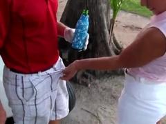 Arousing petite latina gets anughty at golf match