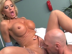 Full naked body inspection performed by Johnny Sins