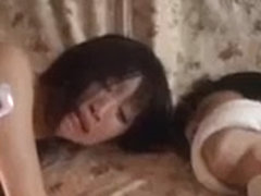 Japanese MILF fucked and creamed by the burglar