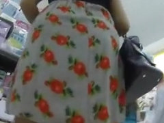 Woman spied under the skirt
