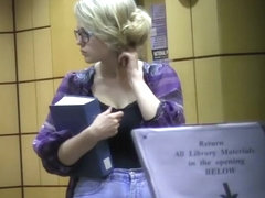 Sexy young librarian got big boobs