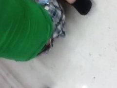 Teen thong slip at the supermarket