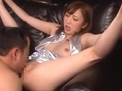 Amazing Japanese chick Mei Kago in Crazy Footjob, Couple JAV movie